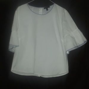 Xl J Crew white with blue line trimmer